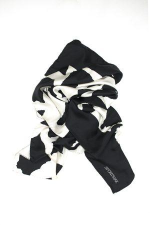 Sidensjal svart-vit - SPORTMAX