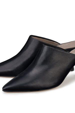 Svarta mules med hög klack - AGL