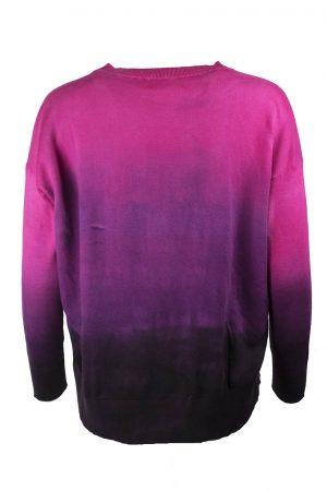 Tröja dip-dyed fuxia - MASSIMO ALBA