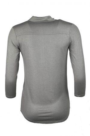 Skjorta trikå antik silver metallic - MAJESTIC