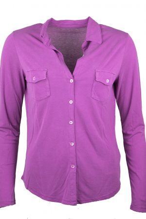 Shirt silk fuchsia - MAJESTIC