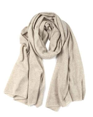 Cashmere shawl Paris sand - LISA YANG