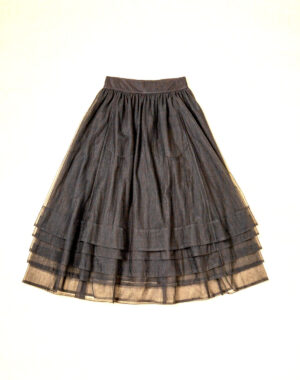 Tulle skirt multiple layers black - CATHRINE HAMMEL