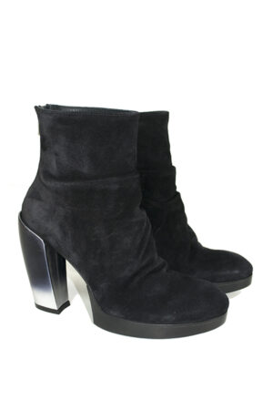 Black suede boots with high heel - OFFICINE CREATIVE