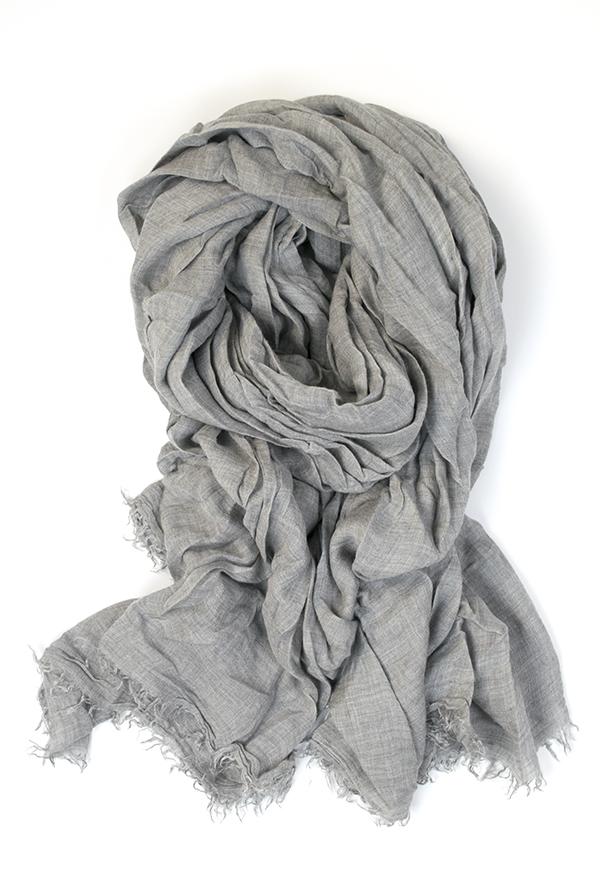 Azzurra - grey shawl - FALIERO SARTI