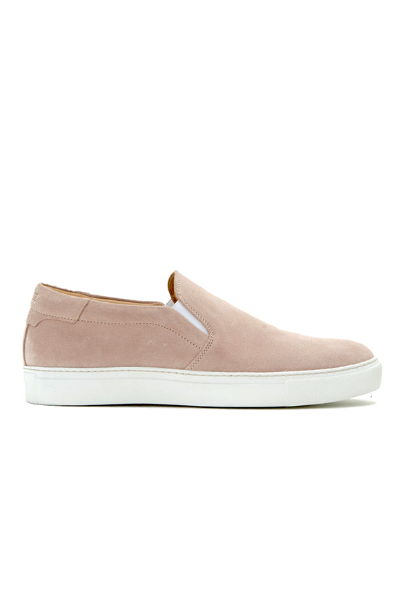 Suede sneakers powder - CLOSED