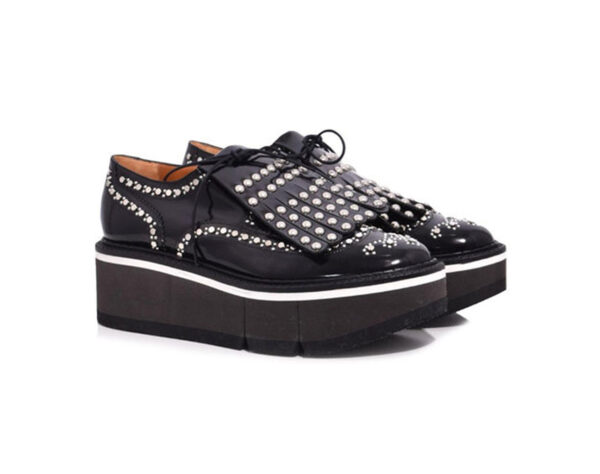 Black laced-up shoe Boelou with studs - ROBERT CLERGERIE