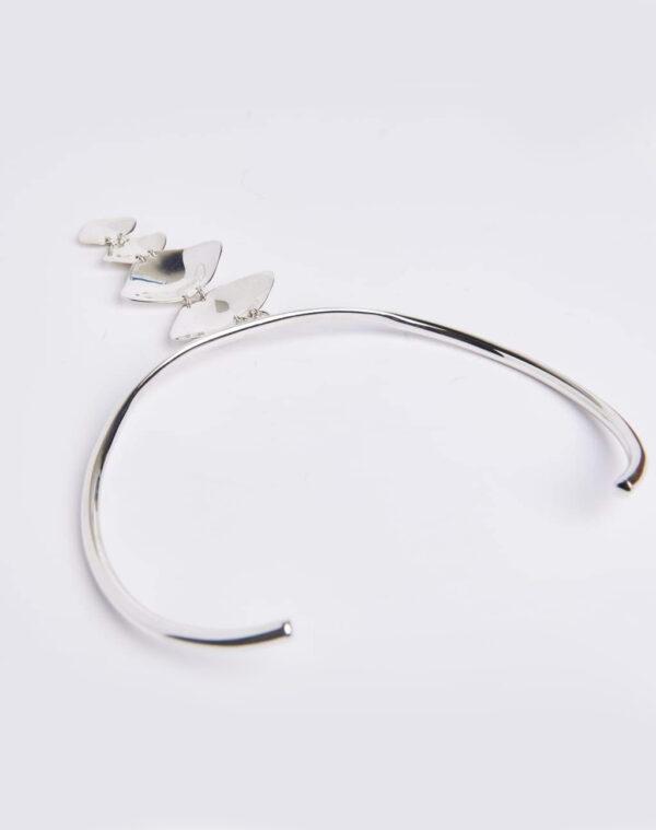 Molded Spine choker silver - CORNELIA WEBB