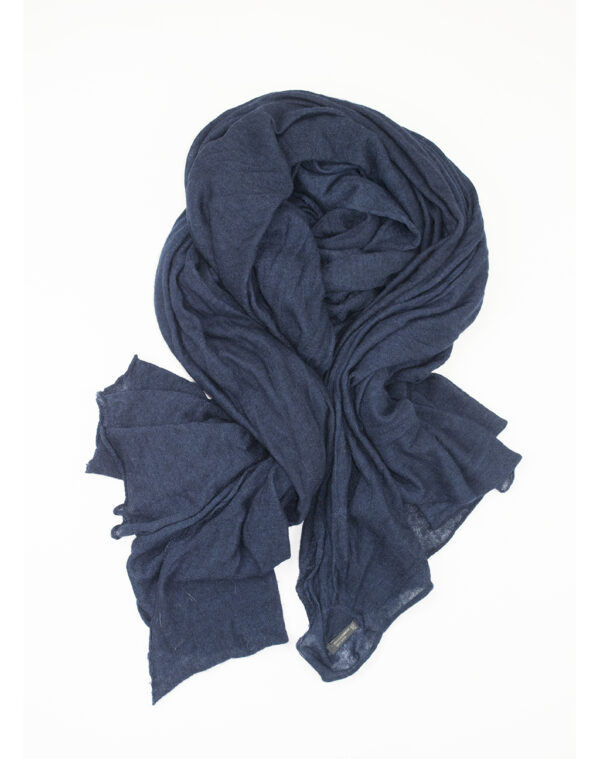 New Petra knitted shawl blue - FALIERO SARTI