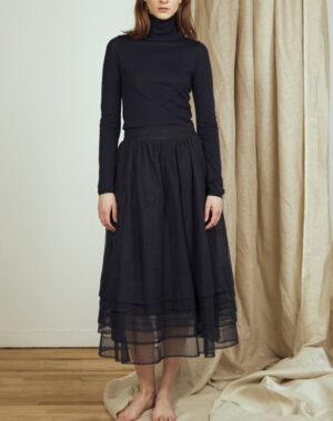 Tulle skirt multiple layers black - CATHRINE HAMMEL